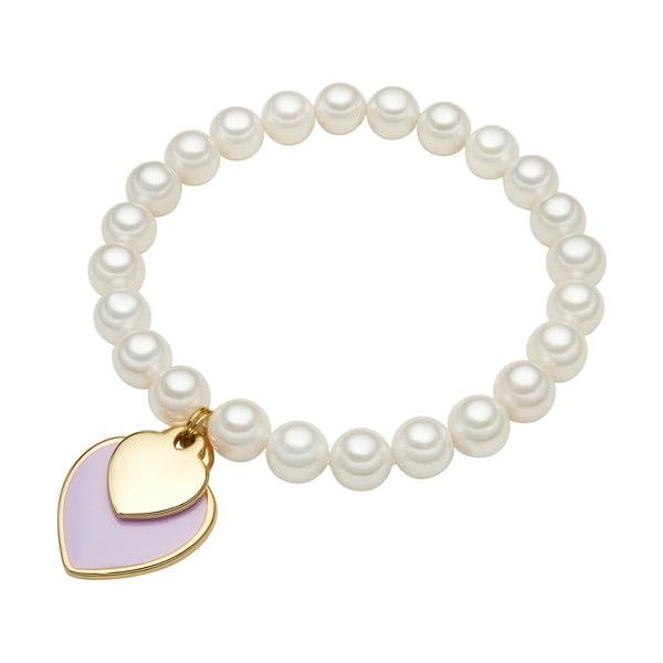 Náramek s bílou perlou Perldesse Ula, délka,⌀0,8x19cm