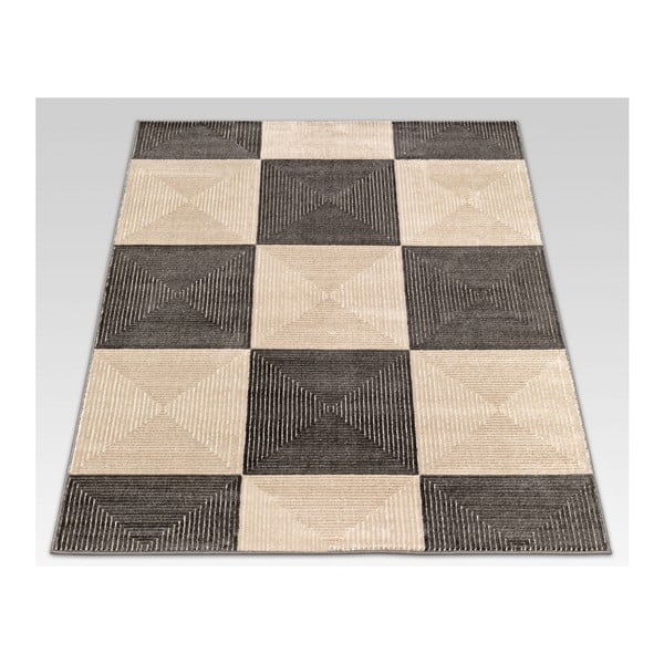 Koberec Webtappeti Reflex Brown Chess, 80 x 150 cm