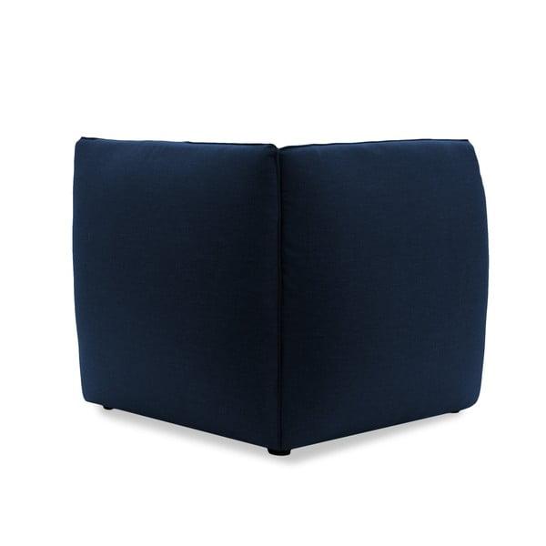 Tmavě modré křeslo Vivonita Cube, pravá strana