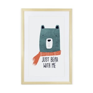 Obraz Tanuki Just Bear with Me, 60 x 40 cm