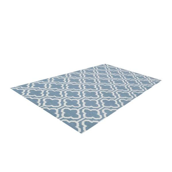 Vlněný koberec Penelope Light Blue, 60x90 cm