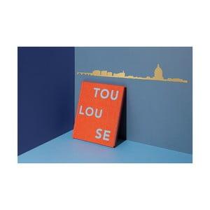 Pozlacená nástěnná dekorace se siluetou města The Line Toulouse