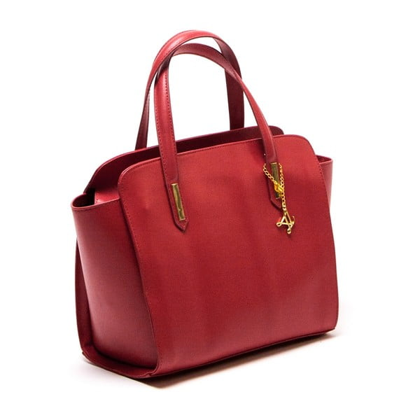 Kožená kabelka Luisa Vannini 421 Rosso