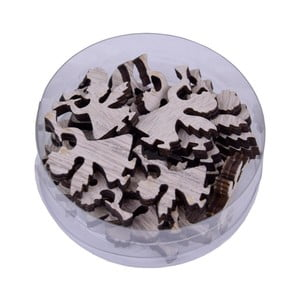 Sada 24 vánočních dřevěných dekorací Ego Dekor
