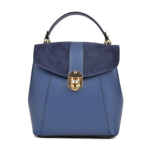 Modrý kožený batoh Isabella Rhea Milesso