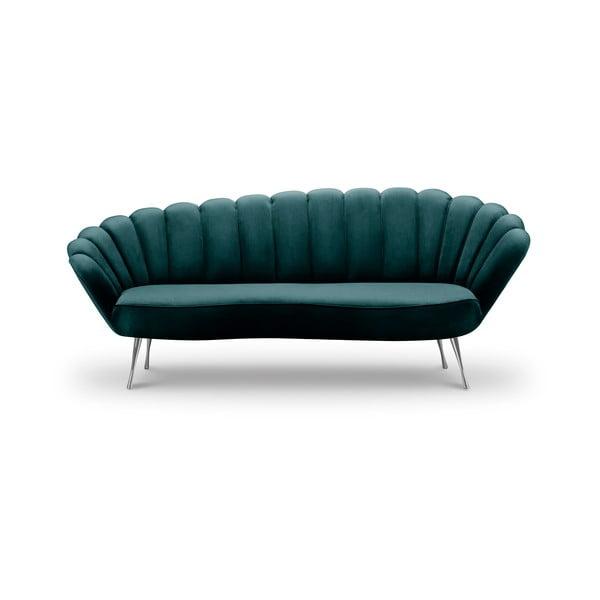 Varenne sötét türkizkék bársony aszimmetrikus kanapé, 224 cm - Interieurs 86