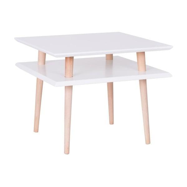 Square fehér dohányzóasztal, 55 x 55 cm - Ragaba