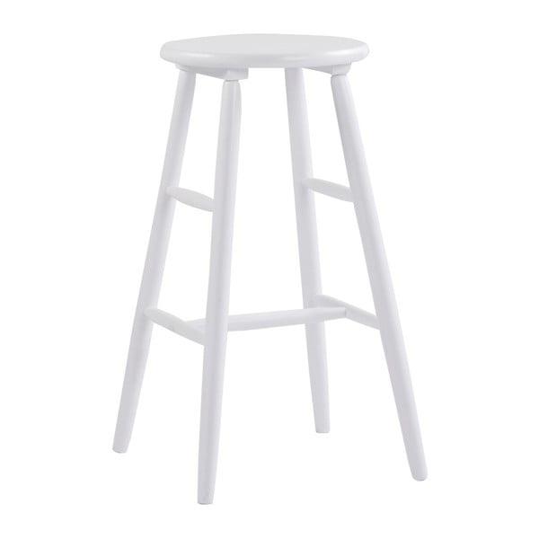 Biela drevená barová stolička Rowico Python, ⌀36 cm