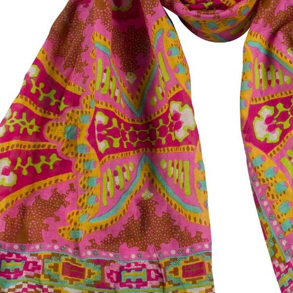 Šátek s příměsí hedvábí Shirin Sehan Gina Sweet