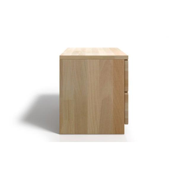 Noptieră din lemn de fag cu 2 sertare SKANDICA Spectrum
