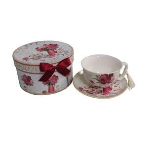 Ceașcă cu farfurioară în cutie Antic Line Romantic