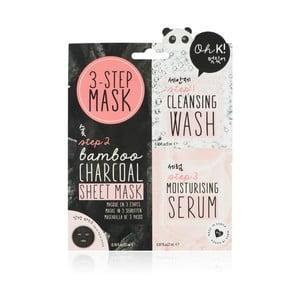 3fázová maska na obličej NPW Charcoal Bamboo