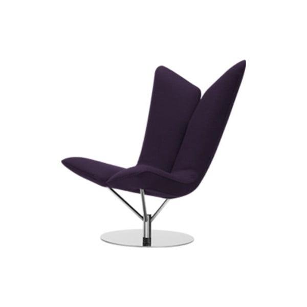 Ciemnofioletowy fotel Softline Angel Eco Cotton Dark Lilac