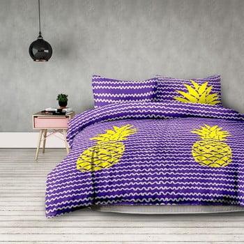 Lenjerie de pat din microfibră AmeliaHome Pineapple, 200 x 220 cm + 70 x 80 cm