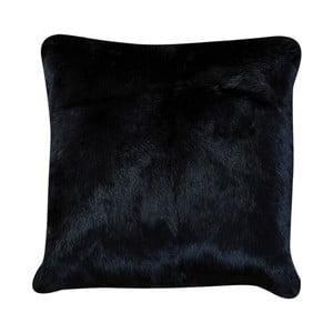 Pernă din blană de iepure Pipsa Pennio, 40 x 40 cm, negru