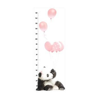 Autocolant metru de perete Dekornik Pink Panda imagine