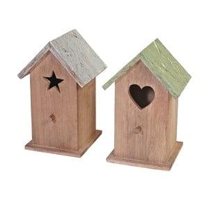 Sada 2 dřevěných dekorativních ptačích budek Mendler Shabby Celje