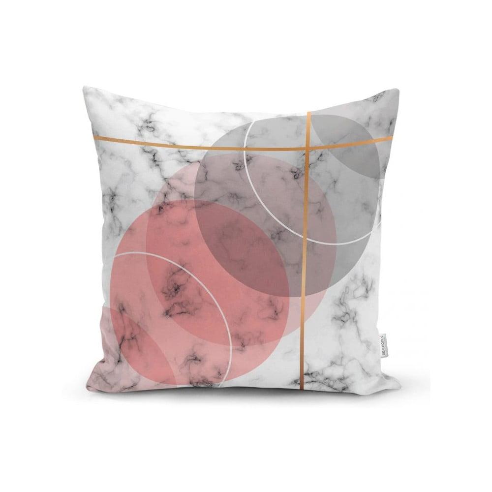 Povlak na polštář Minimalist Cushion Covers Pink Marble, 45 x 45 cm