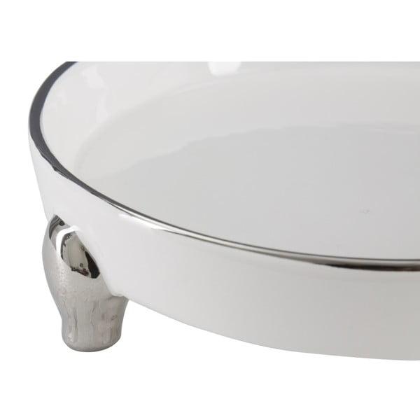 Bílostříbrná dekorativní keramická miska Mauro Ferretti Tasche Pin