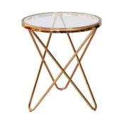 Skleněný odkládací stolek RGE Melissa, ⌀45cm