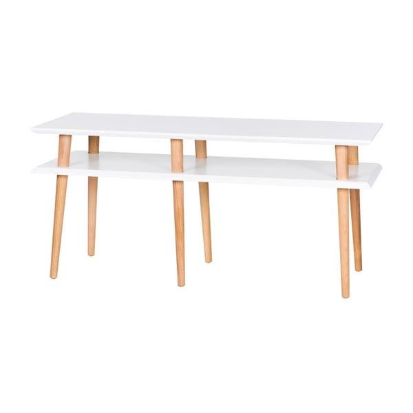 Mungo fehér dohányzóasztal, hossza 119 cm - Ragaba