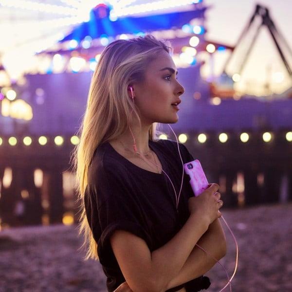 Căști cu model Happy Plugs In-Ear, roz