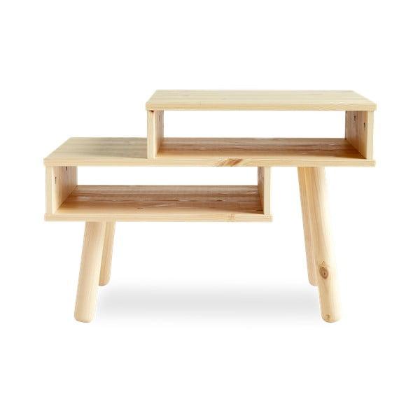 Konferenční stolek z borovicového dřeva v přírodní barvě Karup Design Haku
