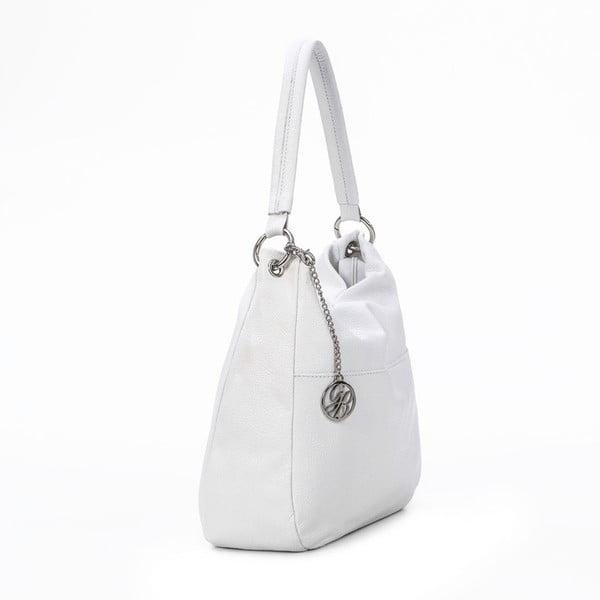 Kožená kabelka Alessandro, bílá