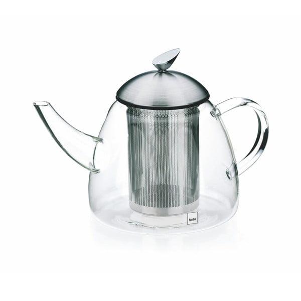 Aurora üveg teáskanna szűrővel, 1,3l - Kela