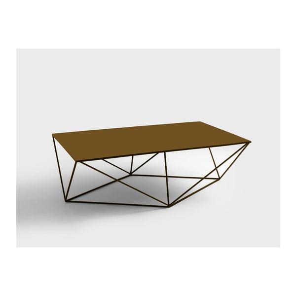 Daryl aranyszínű dohányzóasztal, hosszúság 140 cm - Custom Form