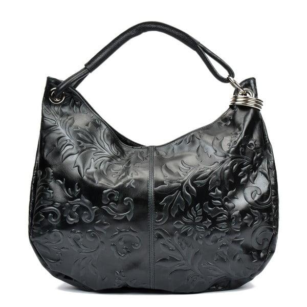 Čierna kožená kabelka Renata Corsi Violetta