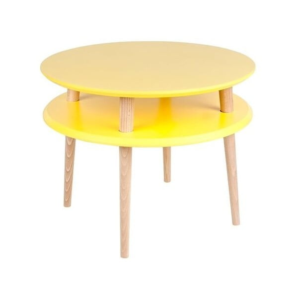 Măsuță de cafea Ragaba UFO Ø 57 cm, galben