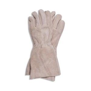 Béžové semišové rukavice Garden Trading Gaunlet Natural, délka 36 cm