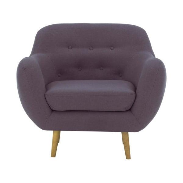 Szarofioletowy fotel Vivonita Gaia