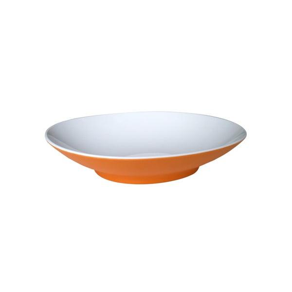 Oranžový polévkový talíř Entity, 22.2 cm