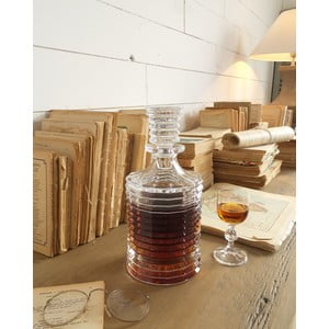 Broušená lahev na whisky Fine, 25,5 cm