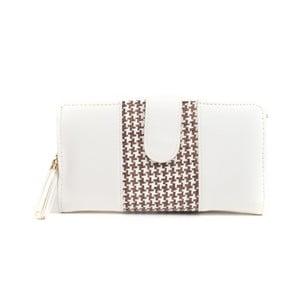 Bílá peněženka s hnědým detailem Mangotti Bags Ophelia