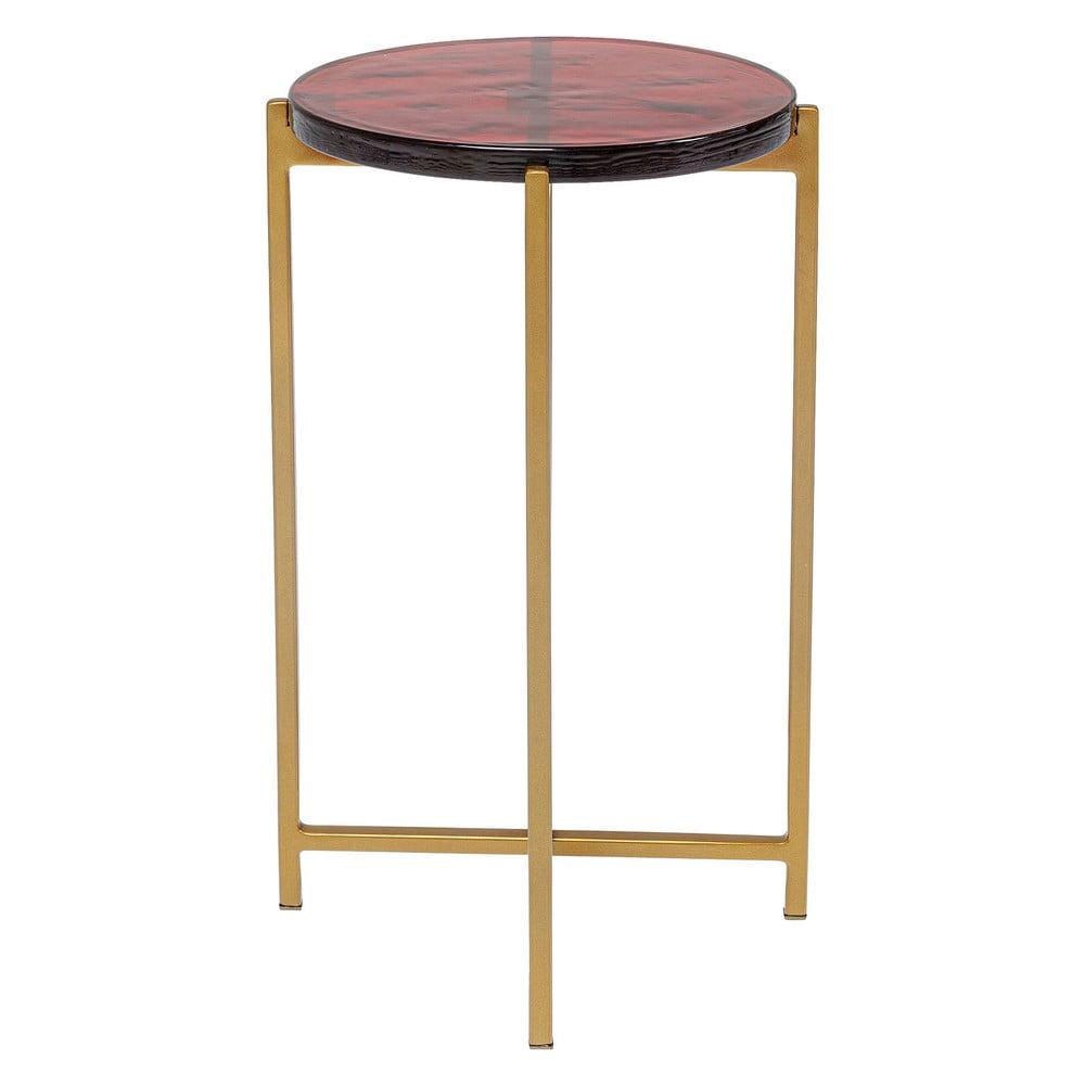 Odkládací stolek ve zlaté barvě Kare Design Lagoon, ⌀29cm