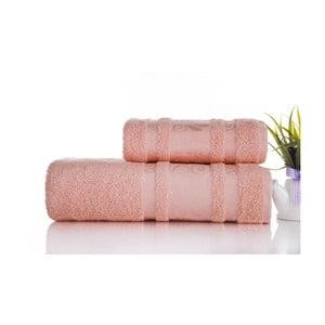Sada 2ks ručníků Carmen Coral, 50x90 a 70x140 cm