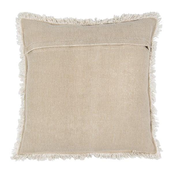 Béžový bavlněný polštář Clayre & Eef Mismo, 45 x 45 cm