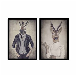Dvoudílný obraz Home Ribs and Deer, 72x50 cm