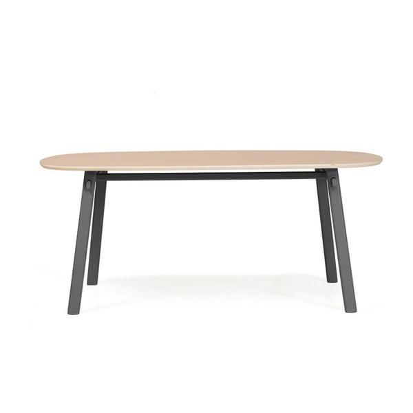 Šedý jídelní stůl z dubového dřeva HARTÔ Céleste, 180x86cm