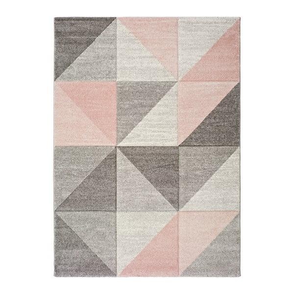 Retudo Naia rózsaszín-szürke szőnyeg, 140 x 200 cm - Universal