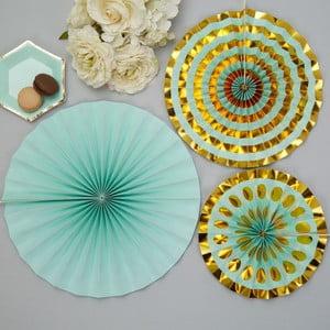 Sada 3 papírových dekorací Neviti Mint Colour Block Marble