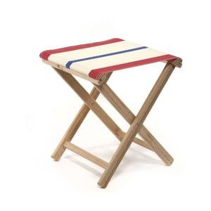 Skládací stolička Beach, modro-červené proužky