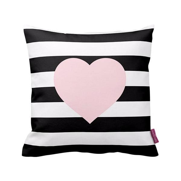 Černobílý polštář Homemania Stripes Pink, 43x43cm