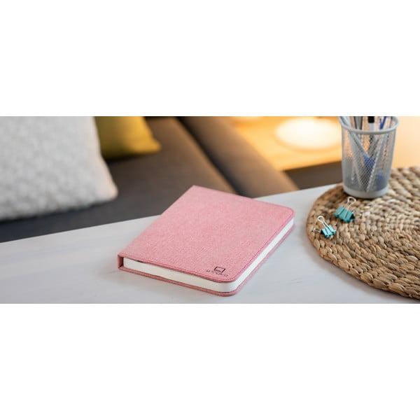 Różowa lampa stołowa LED w kształcie książki Gingko Booklight
