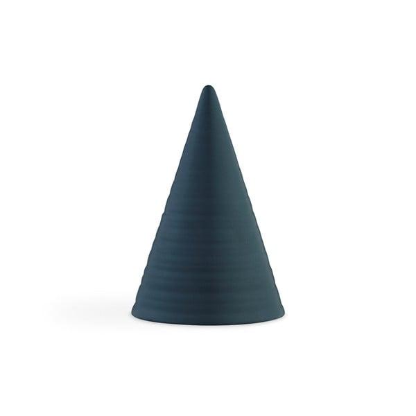 Glazed Cone Dark Blue sötétkék agyagkerámia dekorációs szobor, magasság 15 cm - Kähler Design