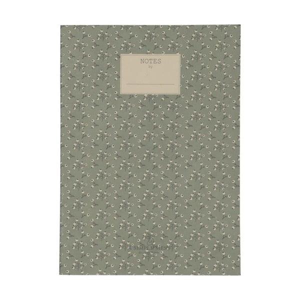 Zápisník A Simple Mess Jena Hegbe Green, 25x18cm