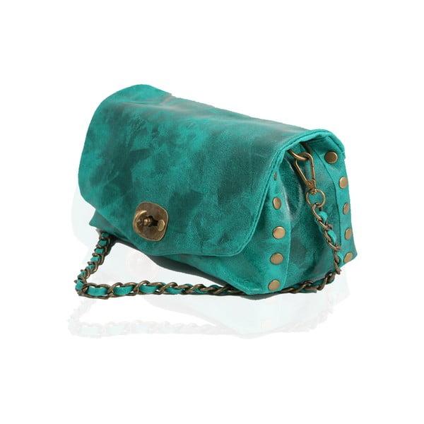 Kožená kabelka Italiana, turquoise